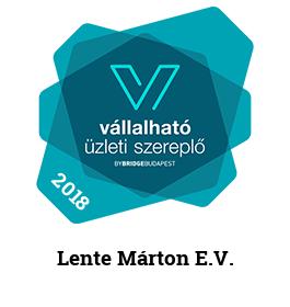 2018 Vállalható Üzleti Szereplő Lente Márton E.V.