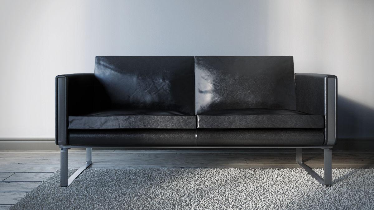 Hans Wegner CH102 kanapé 3D modellezése és termékvizualizációja