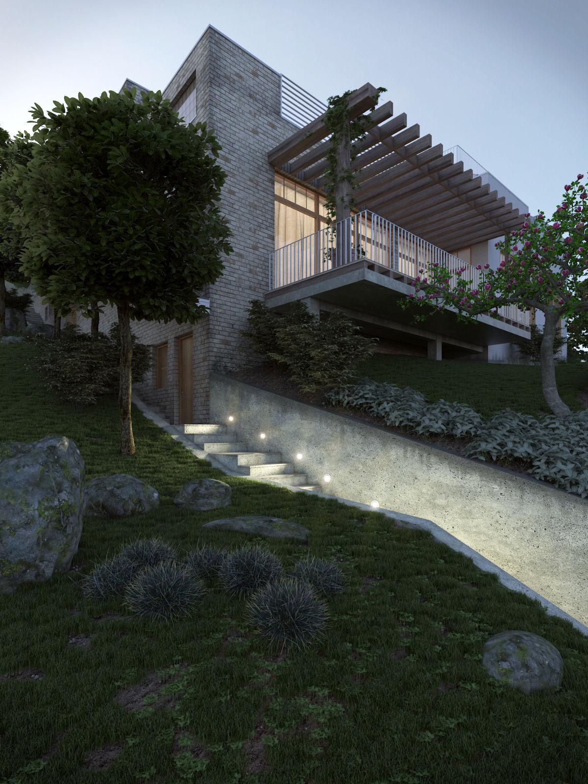 Hegyalja úti családi ház építészeti 3D látványtervezése
