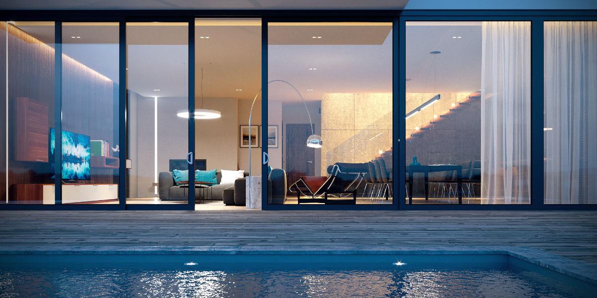 Kázmér úti apartman építészeti 3D látványtervezése