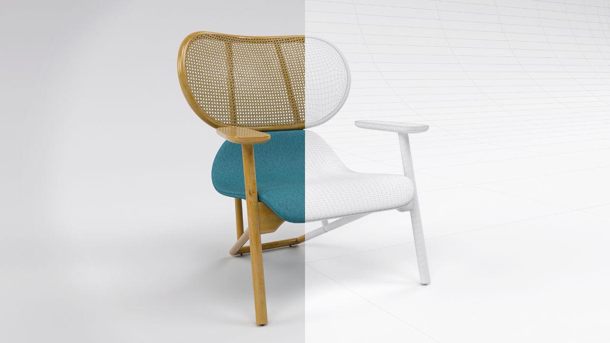 Moroso Klara fotel 3D modellezése és termékvizualizációja