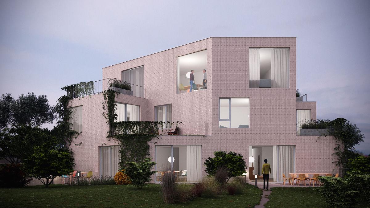 SA43 Stromfeld Aurél úti társasház építészeti 3D látványtervezése