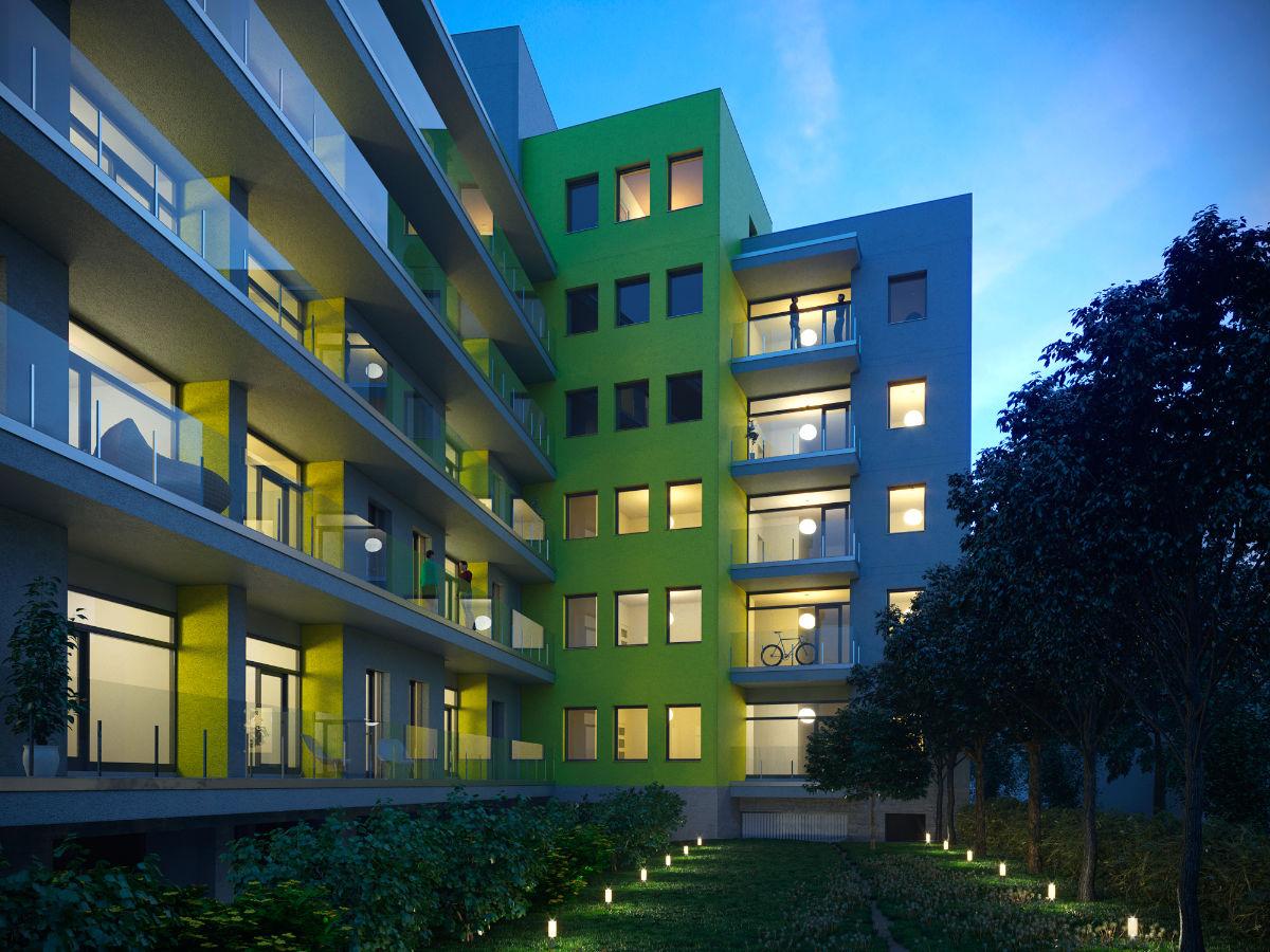 Temesvár utcai társasház építészeti 3D látványtervezése
